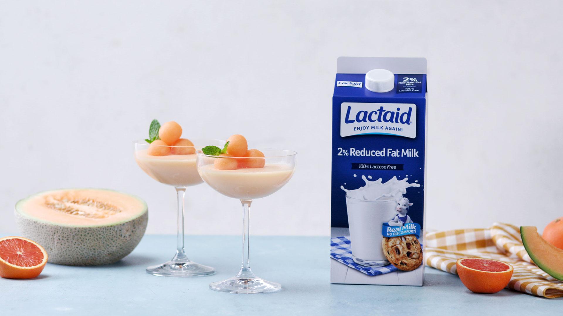 Cantaloupe Panna Cotta made with Lactaid®