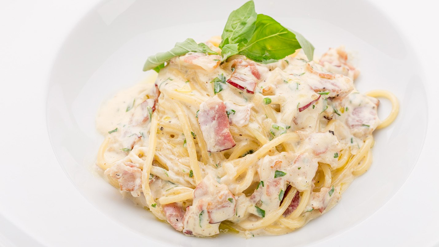 Angel Hair Pasta with Prosciutto in Basil Cream Sauce ...