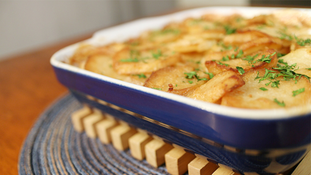 Lactose Free Creamy Garlic Potatoes Recipe Made With LACTAID® Milk