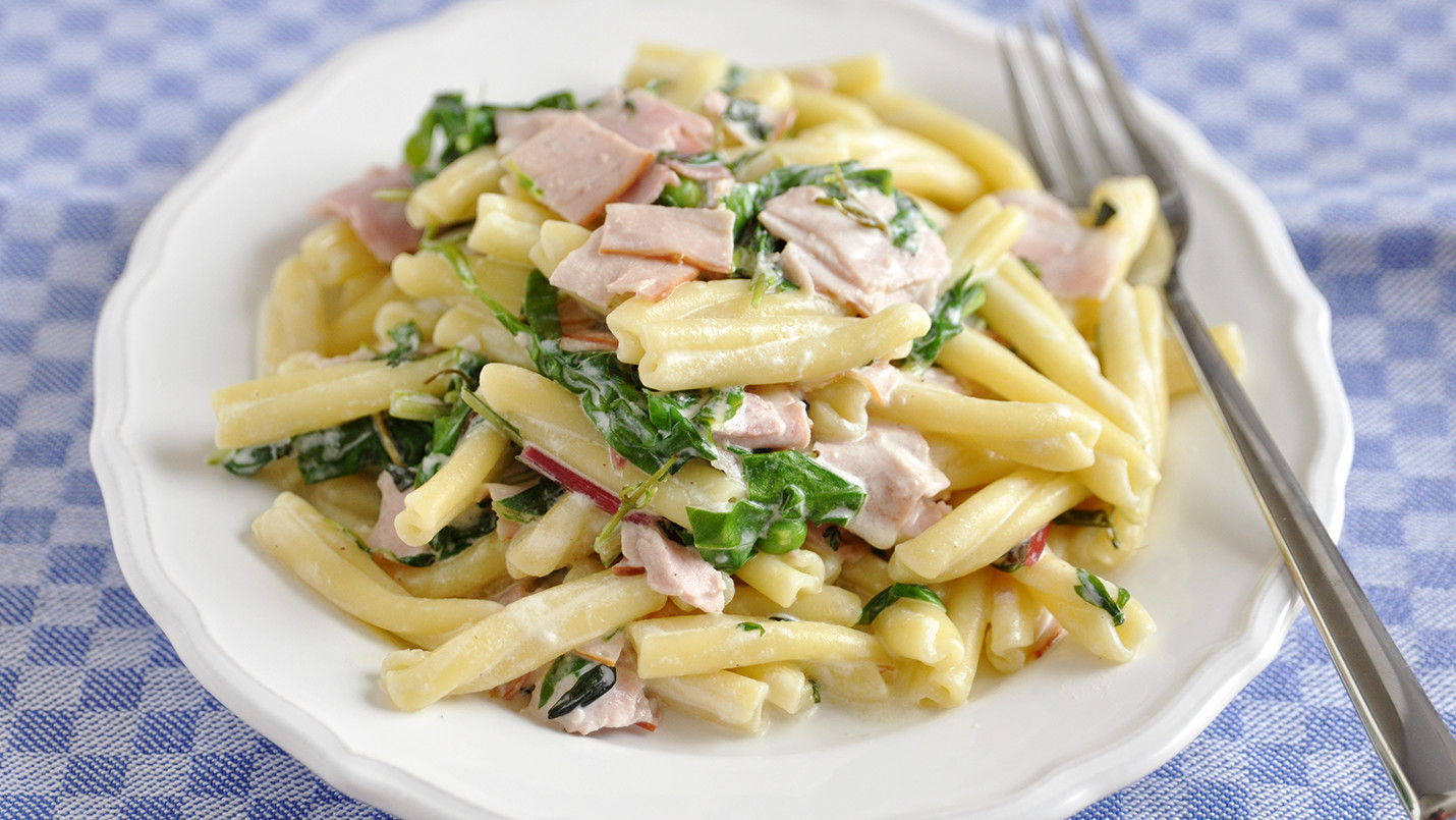 Lactose Free Ham and Spinach Pasta Casserole Recipe made with LACTAID®