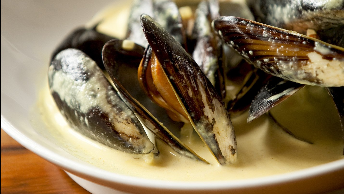 Mussels With White Sauce Made With Lactaid®