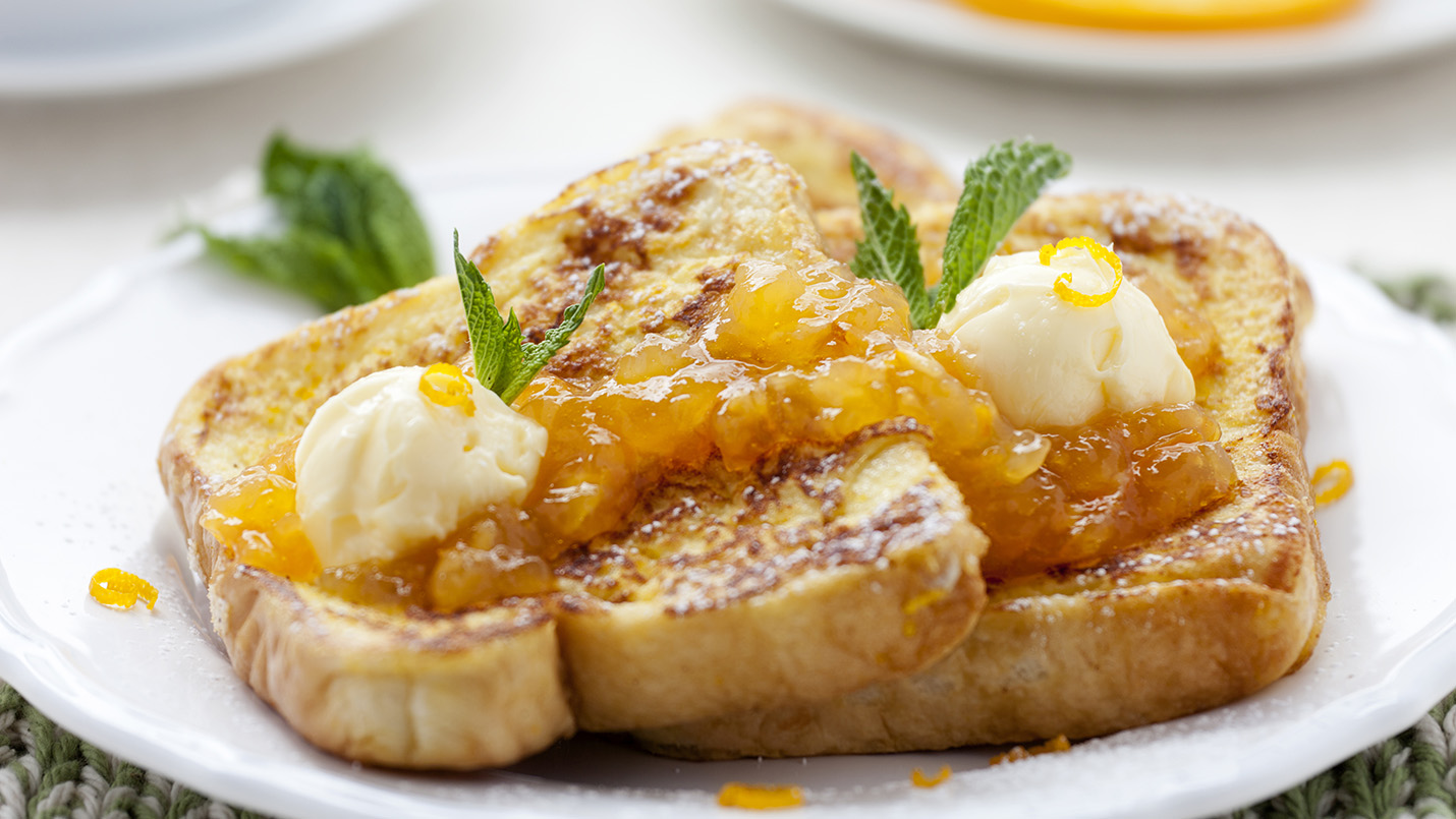 Lactose-free pineapple French toast made with LACTAID®