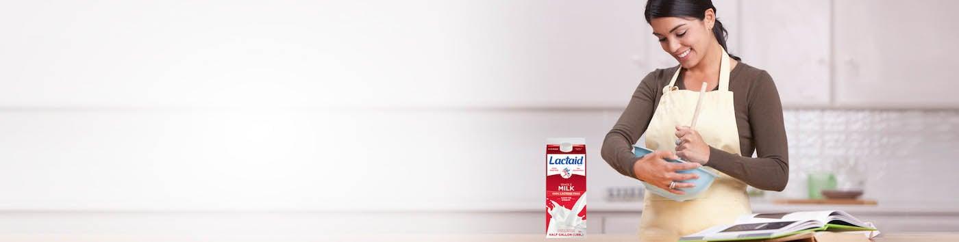 Cocinar con productos LACTAID®