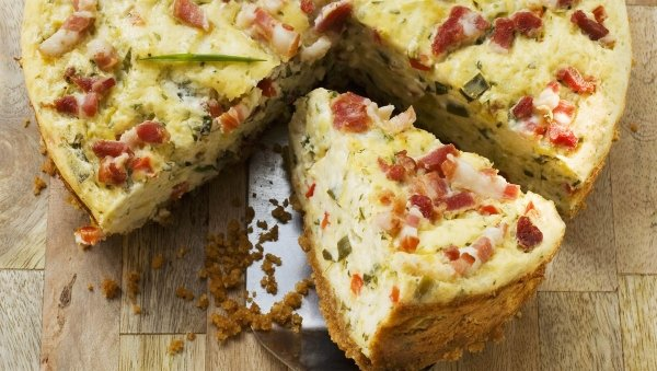 Lactose-free quiche lorraine made with LACTAID®