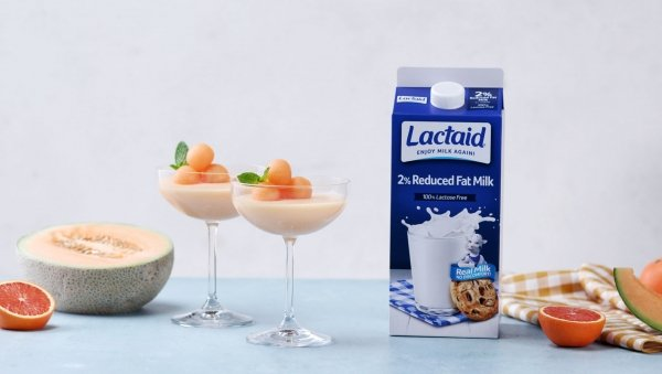 Cantaloupe Panna Cotta made with Lactaid®