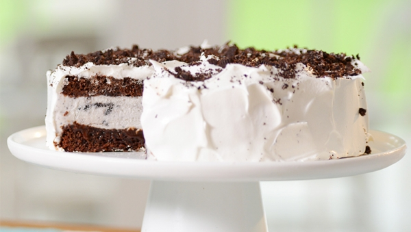 Lactose Free Oreo Ice Cream Cake made with LACTAID® Cookies and Cream Ice Cream
