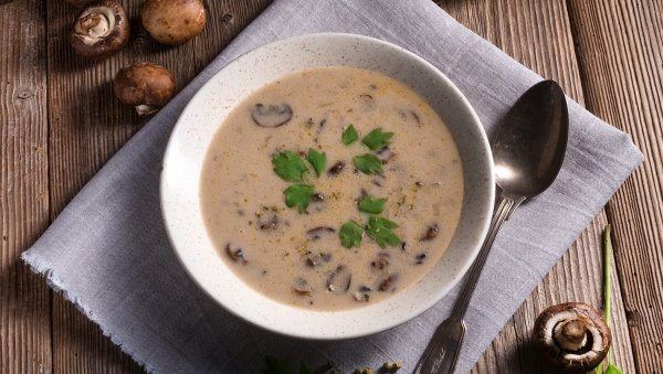 Lactose Free Cream of Mushroom Soup made with LACTAID®