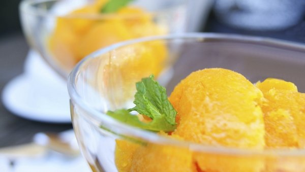 Lactose Free Orange Sherbet Recipe Made with LACTAID® Milk